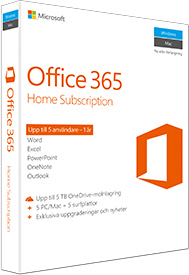 Office 365 home 5 pc eller mac anv ndare 1 r office for Mobilia webhallen